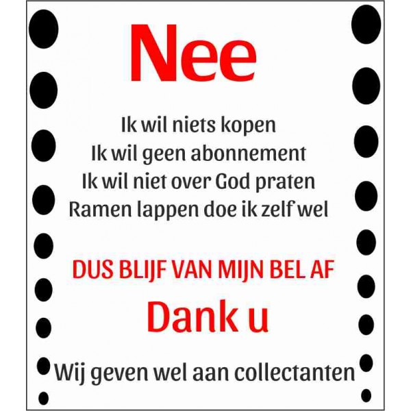 Sticker nee